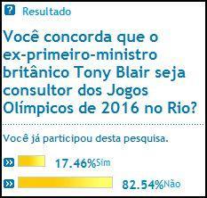 Sondage O Globo / Blair