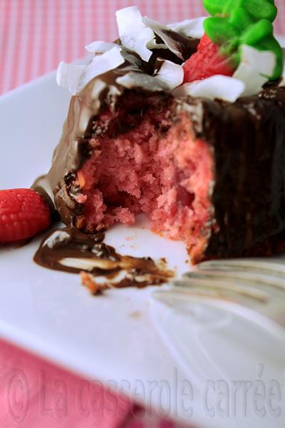 Quatre-vingt-neuvième participation aux TWD - Minis bundts aux fraises et à la noix de coco