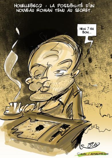 Houellebecq au secret d'un hypothétique roman nouveau