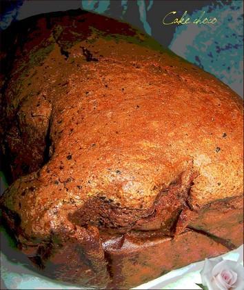 Gâteau (cake) au chocolat noir