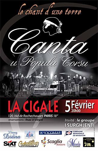 Canta u populu Corsu en concert à Paris ce vendredi.