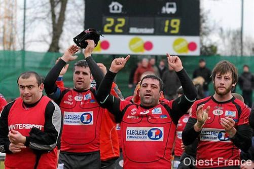 Les Nazairiens peuvent sourire. Ils ont enfin décroché leur place en playoffs. Photo  : Bruno Bouvry