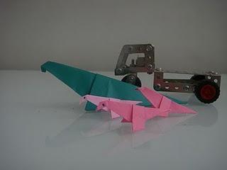 dinosaure origami