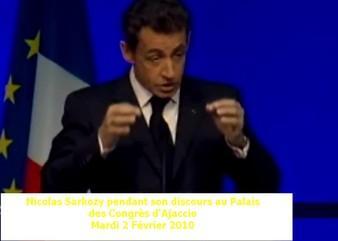 Discours de Nicolas Sarkozy à Ajaccio: Les grandes annonces du Président de la République.