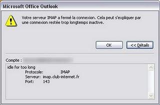 Bug Outlook avec l'IMAP de Club-Internet