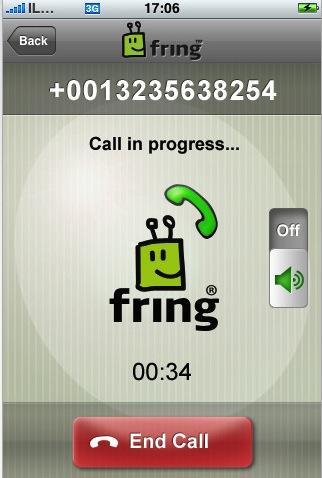 hardware 39707 927 fring voip et messagerie instantanee pour iphone Fring propose maintenant la VoIP en 3G sur Iphone et Apple va sen mettre plein les poches