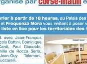 Débat public organisé RCFM Corse-Matin mercredi prochain Palais Congrès d'Ajaccio.
