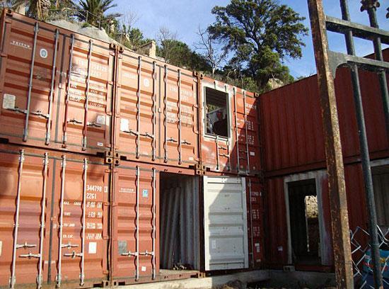 Maison faite de 15 conteneurs d couvrir - Maison conteneur marseille ...