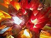 Guirlandes lumineuses Origami signées Maud Taub