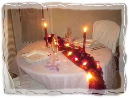 Ma table de st valentin paperblog - Table saint valentin ...
