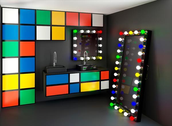 une salle de bains fa on rubik s cube paperblog. Black Bedroom Furniture Sets. Home Design Ideas