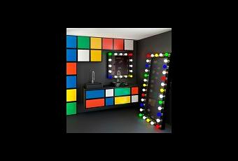 une salle de bains fa on rubik s cube paperblog. Black Bedroom Furniture Sets. Home Design Ideas