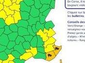 DERNIERE MINUTE: services Météo-France placent deux départements Corses Vigilance orange.