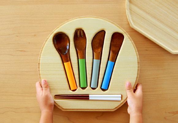 CO-ZEN // urushi cutlery set for kids