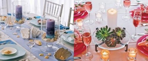 centres de tables: la décoration de la table