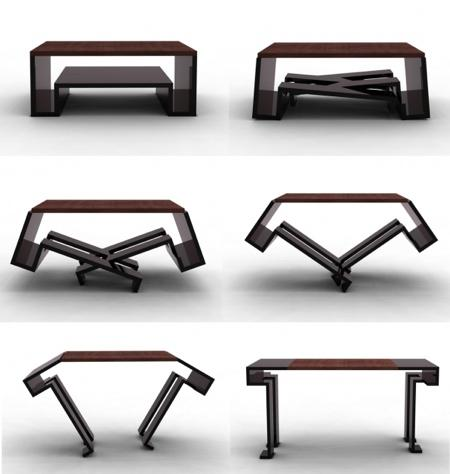 Table transformable mk2 par duffy london paperblog - Table basse qui se transforme en table haute ...