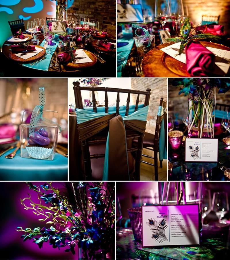 ... decoration de mariage inspirée par le kitchet les ailes de paon