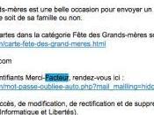 Merci-Facteur.fr mise simplicité dans emailings