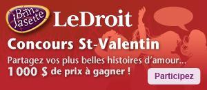 1000$ de prix à gagner - Concours St-Valentin Brin de jasette - journal LeDroit