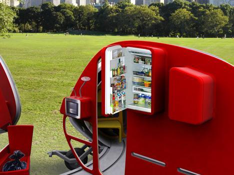 une mini maison mobile par des tudiants en design d couvrir. Black Bedroom Furniture Sets. Home Design Ideas