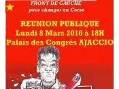 Front Gauche;: Meeting soir Ajaccio.