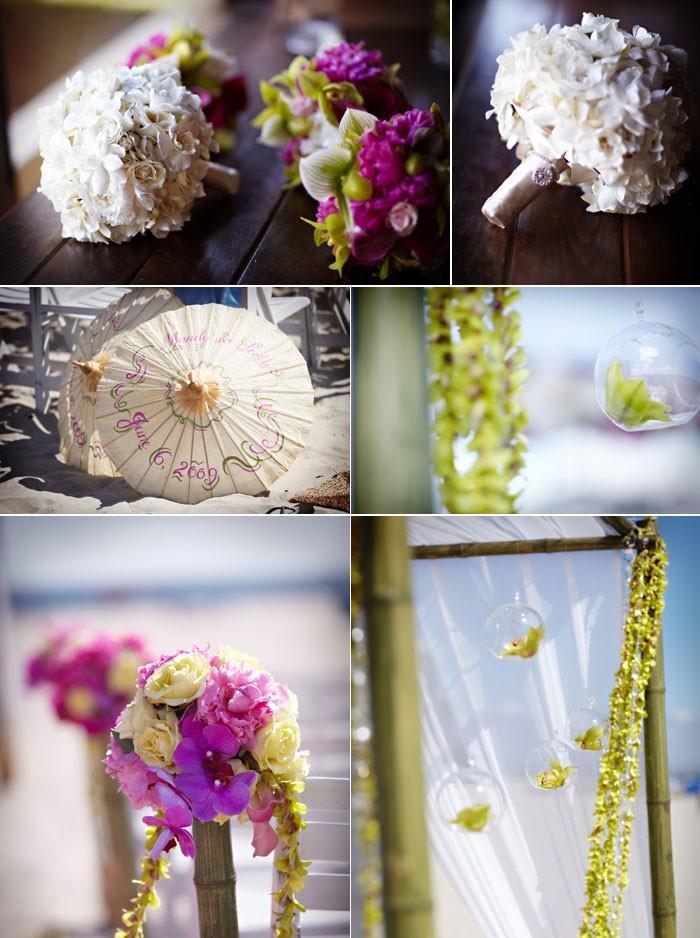 décoration de mariage vert rose fushia et violet | À voir