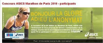 Marketing Relationnel: Asics - Marathon de Paris