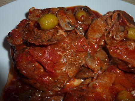 Osso bucco de dinde la tomate et aux vins cuits - Comment cuisiner osso bucco de dinde ...