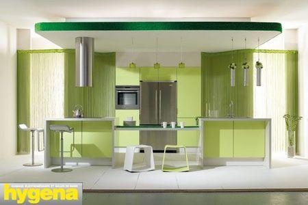 Osez le vert en d co paperblog - Cuisine vert olive ...