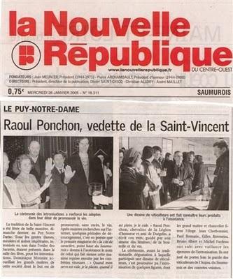 ..RAOUL PONCHONetLE PUY-NOTRE-DAME. le 23 janvier 2005On ...