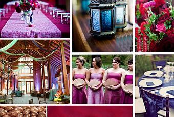 décoration de mariage mauve, violet, et rose  À Découvrir
