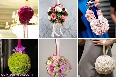 Une boule de fleurs fait main ? Oui, je le veux !