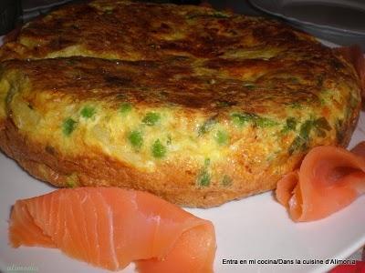 Frittata de salmon ahumado / Frittata de saumon fumé
