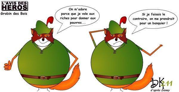 Robin des Bois, Walt Disney, Shériff de Nottingham, Richard Coeur de  ~ Parodie Robin Des Bois