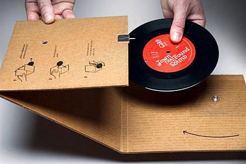 Cardboard record player 1