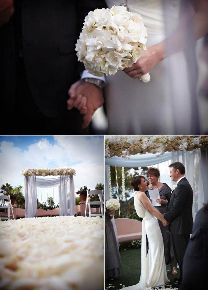 Décoration de mariage thème blanc et diamants
