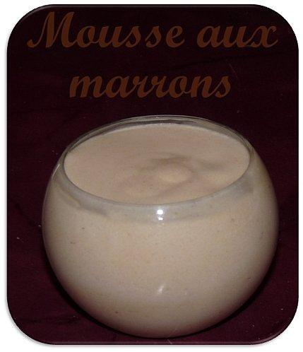 Mousse la cr me de marron d couvrir - Mousse a la creme de marron ...