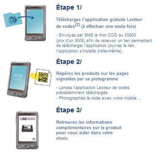 Carrefour taggue 2D ses produits