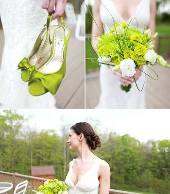 des chaussures de mariage vertes oui je le veux