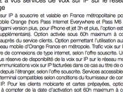 Tarif VoIP Orange