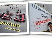 Allemagne Suède, actions Greenpeace contre l'arrivée pomme terre BASF