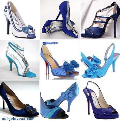 des chaussures de mariage bleues oui je le veux voir