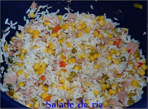 Salade de riz paperblog - Quelle quantite de riz par personne ...