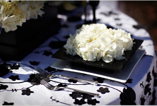 D coration de table noire et blanche paperblog - Table noire et blanche ...