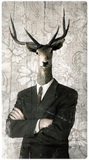 collage num rique l 39 homme cerf nouvelle version paperblog. Black Bedroom Furniture Sets. Home Design Ideas