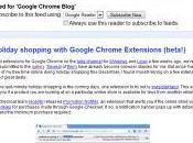 Abonnements Google Chrome