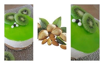 Gateau mousse au kiwi