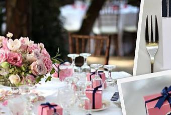 Décoration de mariage rose bleu marine et blanc - Paperblog