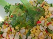 Salade mexicaine radis maïs Mexican radish corn salad