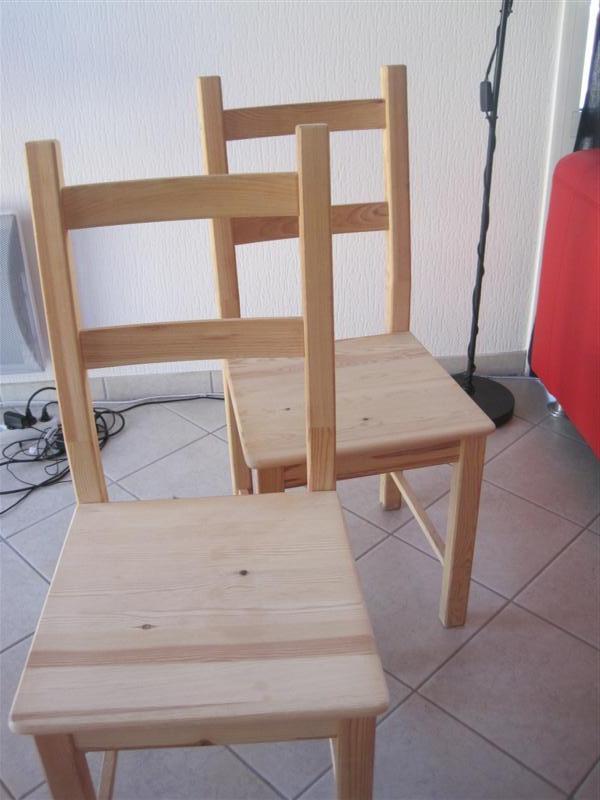 Avant apr s transformer une table en bois en table blanc for Relooker chaise en bois